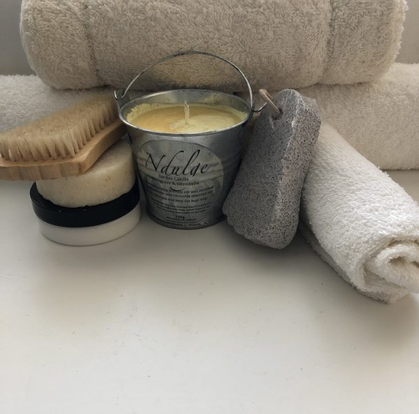 Gardeners Haven Collection with a pot of hand cream